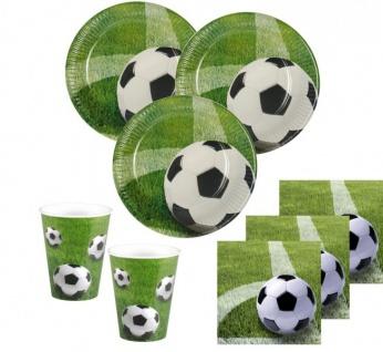 60 Teile Fußball Party Deko Set Eckball 20 Personen