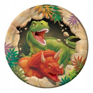8 kleine Teller Dinosaurier Party