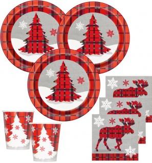32 Teile Weihnachts oder Advents Deko Set Weihnachten Rustikal für 8 Personen