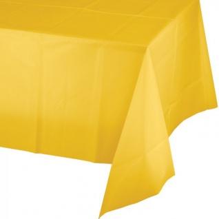 Plastik Tischdecke in Sonnen Gelb