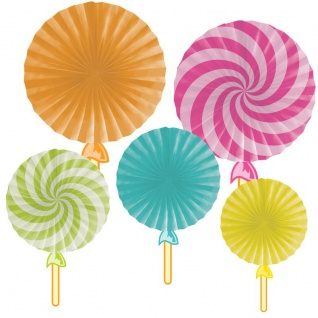 5 Deko Fächer Candy Shop
