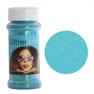 Bastel Glitzer in Pastell Blau irisierend 100g im Streuer