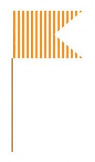 24 Party Picks orange gestreift