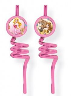 2 Verspielte Trinkhalme Disney Princess Animals
