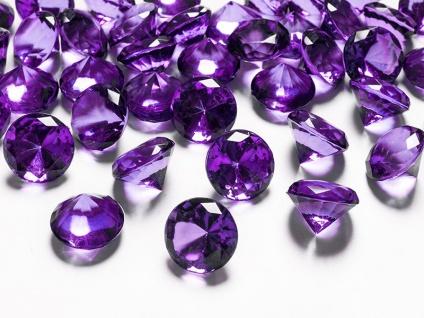 10 Deko Plastik Diamanten lila - 20 mm Durchmesser - Vorschau 1