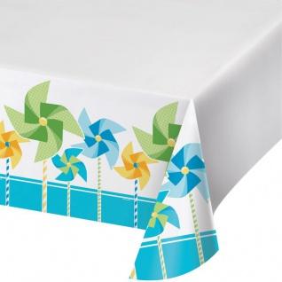 1. Geburtstag Windrad blau Party Tischdecke