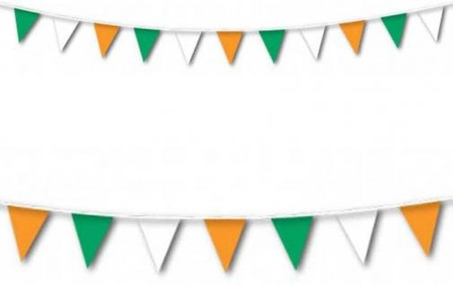 Wimpelkette Grün Weiß Orange 7 Meter