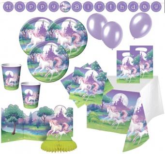 53 Teile Einhorn Party Deko Set für 8 Kinder
