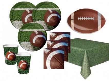 50 Teile American Football Superbowl Party Deko Set 16 Personen Touchdown