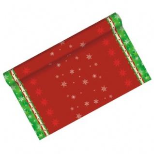 Weihnachts Tischläufer Rot Grün 3 Meter