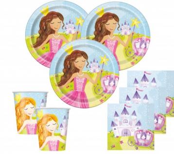 48 Teile Märchen Prinzessin Party Deko Set für 16 Kinder