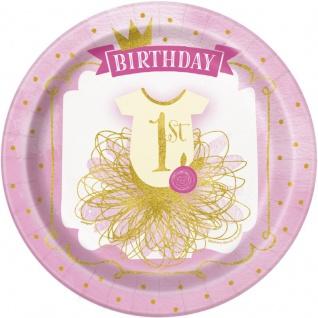 32 Teile Erster Geburtstag Rosa und Gold Party Deko Set 8 Personen - Vorschau 2