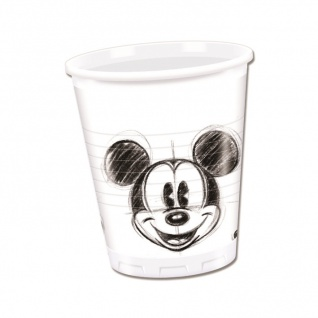 25 Becher Micky Maus Sketch
