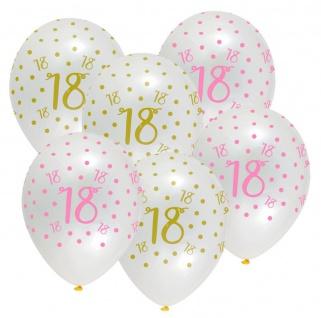 XL 44 Teile Pink Chic Party Deko Set zum 18. Geburtstag in Rosa und Gold Glanz für 8 Personen - Vorschau 4