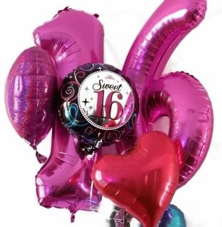 XXL Folien Ballon in Form der Zahl 0 Schwarz - Vorschau 2