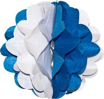 Wabenball aus Papier Blau Weiß Bayern Oktoberfest - Vorschau