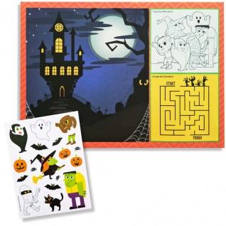 8 Platzsets und Sticker Halloween