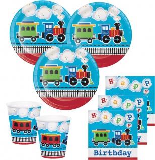 48 Teile Eisenbahn Geburtstags Party Deko Set 16 Personen