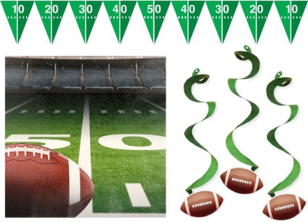 XXL American Football Superbowl Party Deko Set 100 Personen