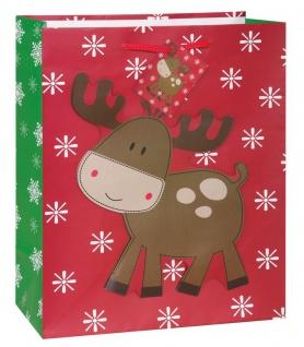 weihnachtliche Geschenk Tüte kleiner Elch