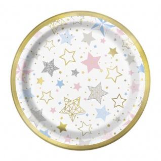 8 kleine glänzende Teller Twinkle twinkle little Star