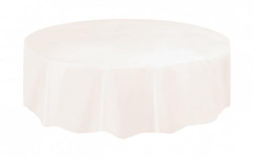 Runde Plastik Tischdecke Elfenbein