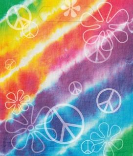 8 Party Tütchen Regenbogen Hippie Batik Style