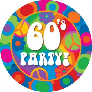 60er Jahre Motto Party Teller