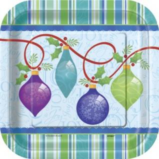 10 kleine Teller Weihnachts Ornamente