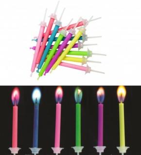 12 Flammen Zauber Kerzen bunt