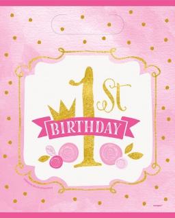 8 Party Tütchen 1. Geburtstag Rosa und Gold