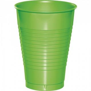 20 Plastik Becher Limonen Grün 350 ml