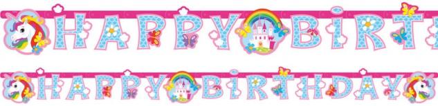 Geburtstags Girlande Regenbogen Einhorn