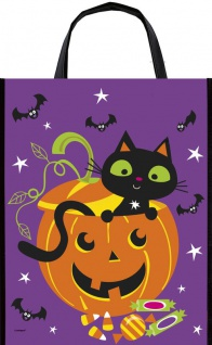 8 Fröhliches Halloween Sammel Taschen mit Kürbis Geist & Katze - Sammeltasche - Vorschau 2