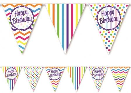 bunte Wimpel Girlande zum Geburtstag