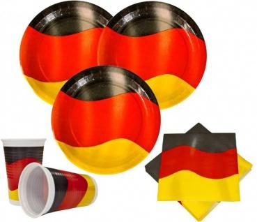 60 Teile Deutschland Party Deko Basis Set 20 Personen