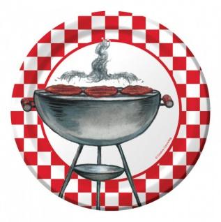 8 kleine Teller Grill Party Kugelgrill