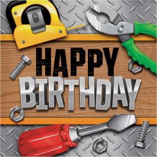 16 Geburtstags Servietten - Happy Birthday kleine Handwerker Party