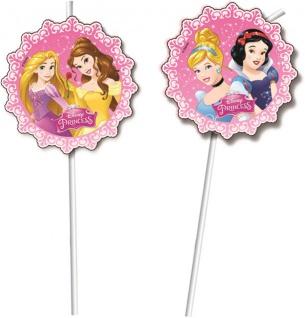 6 Disney Princess Dreaming Trinkhalme