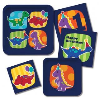 16 Erster Geburtstags Servietten kleiner Dinosaurier - Vorschau 3
