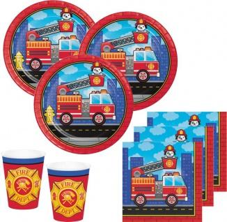 32 Teile Feuerwehr Alarm Party Deko Set für 8 Kinder