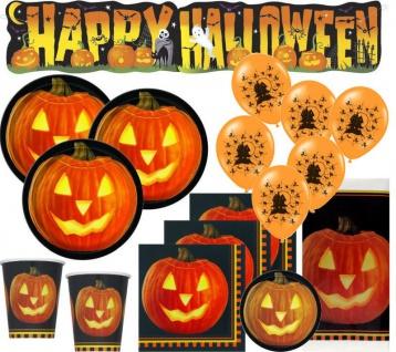 XXL Halloween Party Deko Set Kürbis 8 Personen