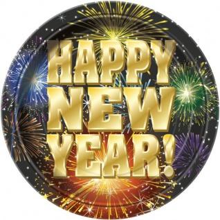 8 kleine Teller Happy New Year