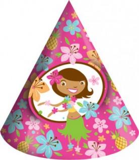 8 Hula Mädchen Hütchen