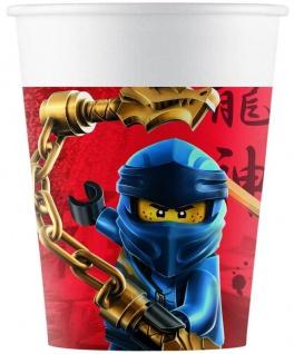 8 Papp Becher Lego Ninjago ECO Linie