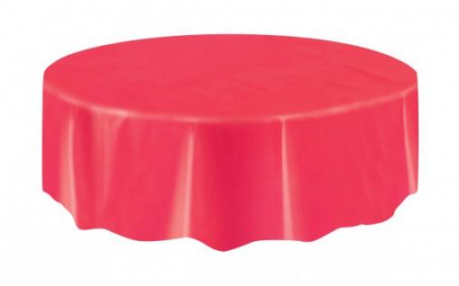 Runde Plastik Tischdecke Rot
