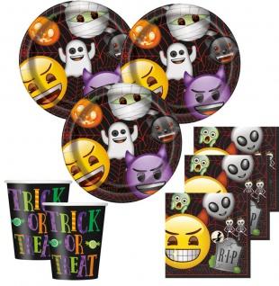 32 Teile Halloween Deko Set Emoji für 8 Personen