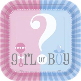 8 Teller Babyparty Junge oder Mädchen