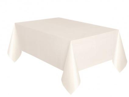 Plastik Tischdecke Elfenbein