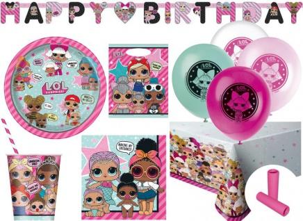 XL 61 Teile L.O.L. Surprise! Party Deko Set für 8 Kinder